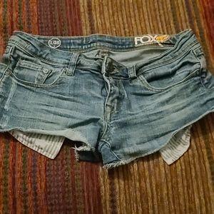3/$12 Fox jean shorts 1/25